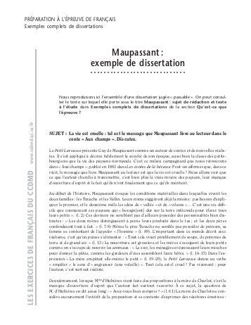 Exemple De Dissertation by Dissertation Corrig