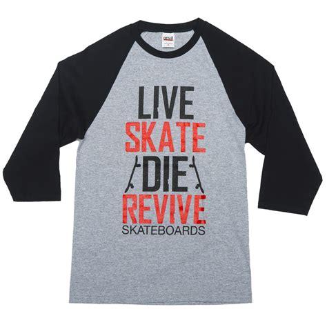 Tshirt Skate Or Die revive skateboards skate revive baseball