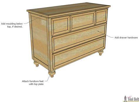 five drawer dresser plans 5 drawer dresser changing table her tool belt