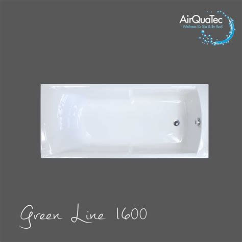 Low edge ridge profile bathtub 160 x 70 cm square, easy