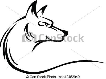 eps vector of wolf head tattoo vector illustration of