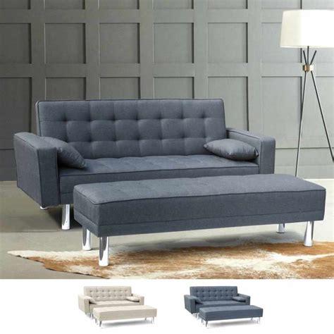 poggiapiedi divano divano pronto letto con braccioli e poggiapiedi 2 posti