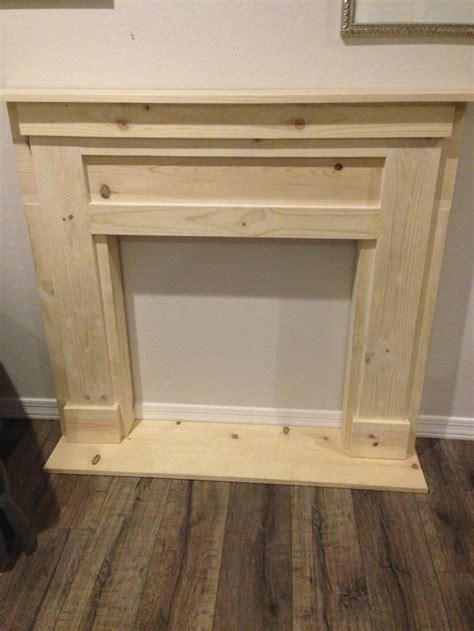 diy faux fireplace mantel studio