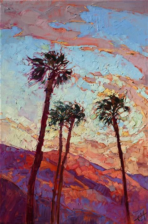 palm springs contemporary impressionism landscape paintings for sale by erin hanson