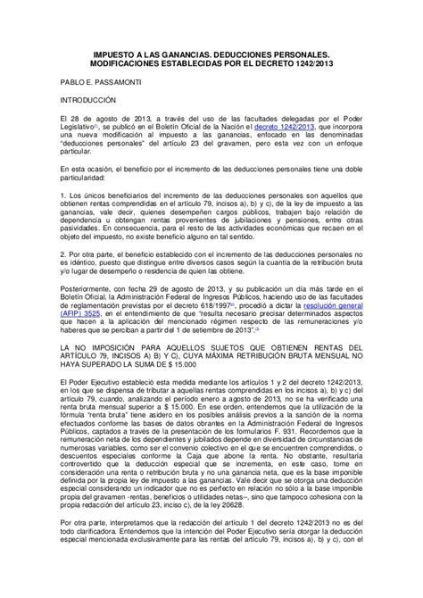 deducciones personales ganacias 2012 impuesto a las ganancias deducciones personales