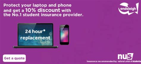 10% off with Endsleigh Gadget Insurance