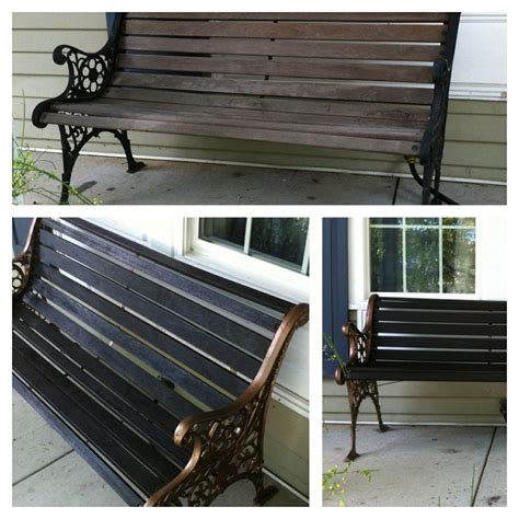 how to paint a wooden bench 1000 images about garden bench on pinterest outdoor