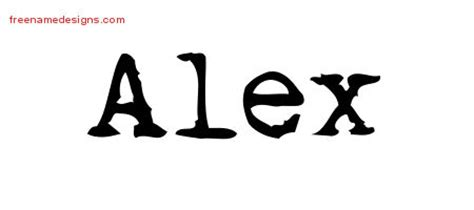 tattoo ideas for the name alex vintage writer name tattoo designs alex free lettering