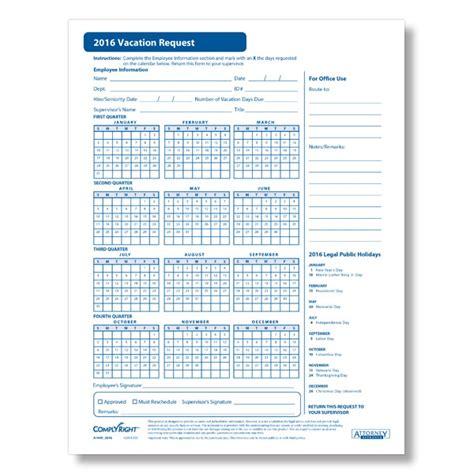 pto calendar template 2016 employee vacation tracker calendar template 2016