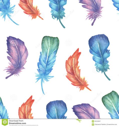 watercolor feather pattern watercolor feather seamless pattern