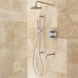 bath shower systems kennedy thermostatic tub amp shower system shower bathroom