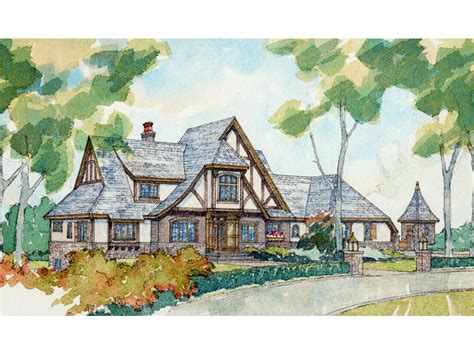 Kitchen Center Island Plans by Riordan Manor Luxury Tudor Home Plan 105s 0004 House
