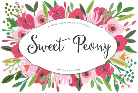 Sweet Peony sweet peony handmade script script fonts on creative market