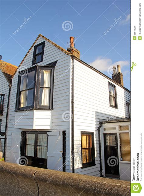 Kent Coast Cottages by Fishermans Kent Coastal Cottage Royalty Free Stock Image