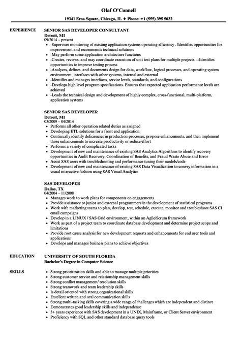 sas resume sle sas consultant sle resume development associate sle