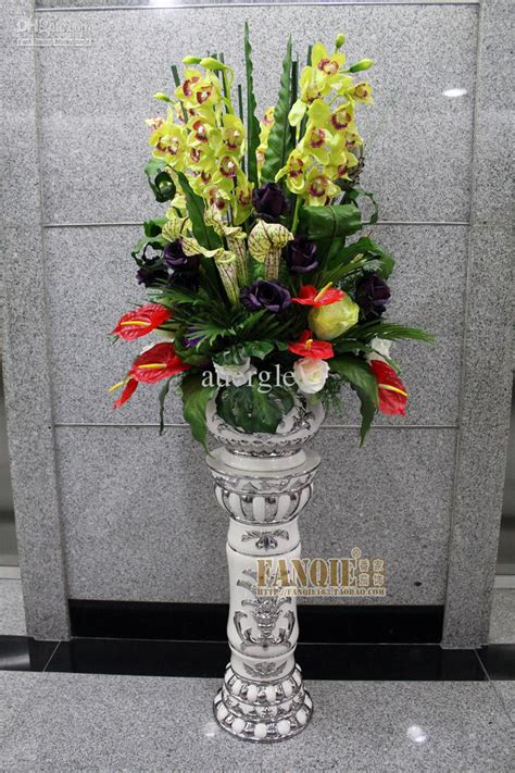 Flowers For Floor Vases by Fashion Set Floor Vase Ceramic Column Decoration Stair Set Flowers Artificial Flower