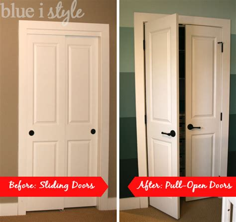 How To Organize A Closet With Sliding Doors Organizing With Style Nursery Closet Blue I Style