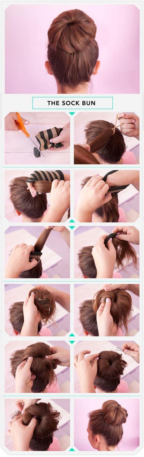 how to do diy sock hair buns with bows hair bow vs sock bun 2 diy styles to consider