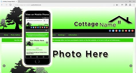 cottage websites cottage web templates for property rental