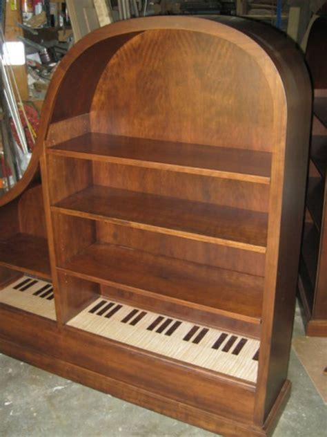 cherry baby grand piano bookcase 56 quot w x 11 5 quot d x 60 quot h