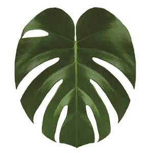 Giant Wall Sticker toilet lid adhesive cover tropical leaf urban jungle