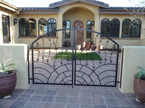 swing gate design exterior interesting swing gate design ideas with black