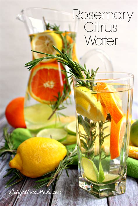 Detox Drinks With Rosemary by Rosemary Citrus Water Delightful E Made