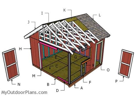 14x14 Shed Plans by 14x14 Shed Plans Myoutdoorplans Free Woodworking Plans