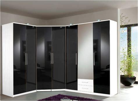 And White Wardrobe - berlin 4 door wardrobe black gloss and white 139453
