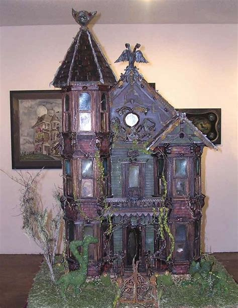 halloween doll house haunted dollhouse miniatures www imgkid com the image kid has it