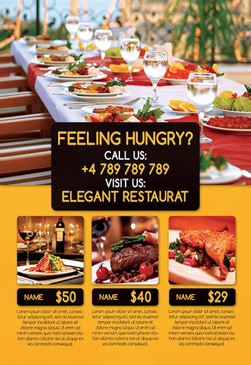 cover page template free download template for restaurant reception by elegantflyer