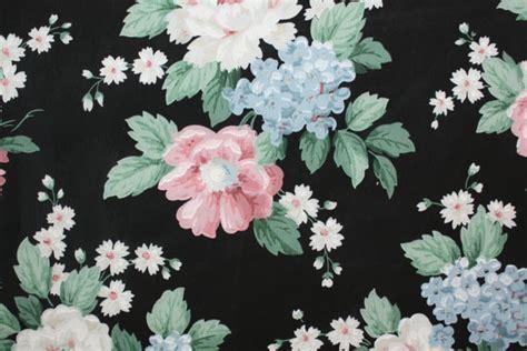 vintage wallpaper bold floral on black floral vintage