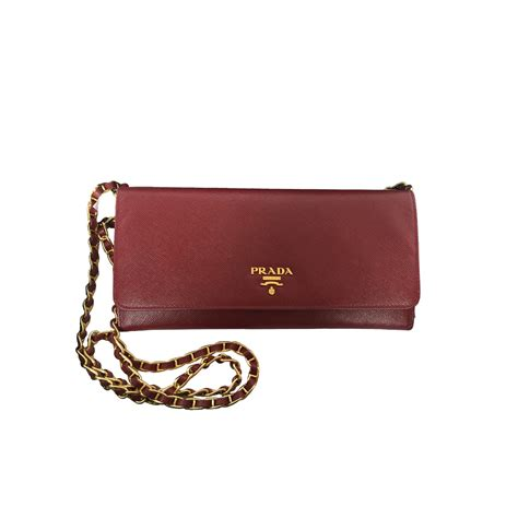 wallet bag a prada saffiano wallet on chain bag modsie
