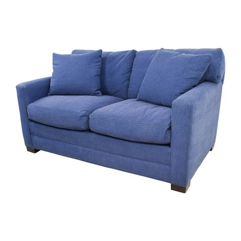 79 Off Lee Industries Lee Industries Denim Blue Sofa And Loveseat