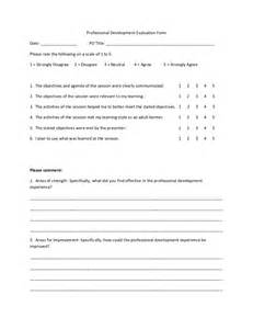 Business Review Report Template professional development evaluation form