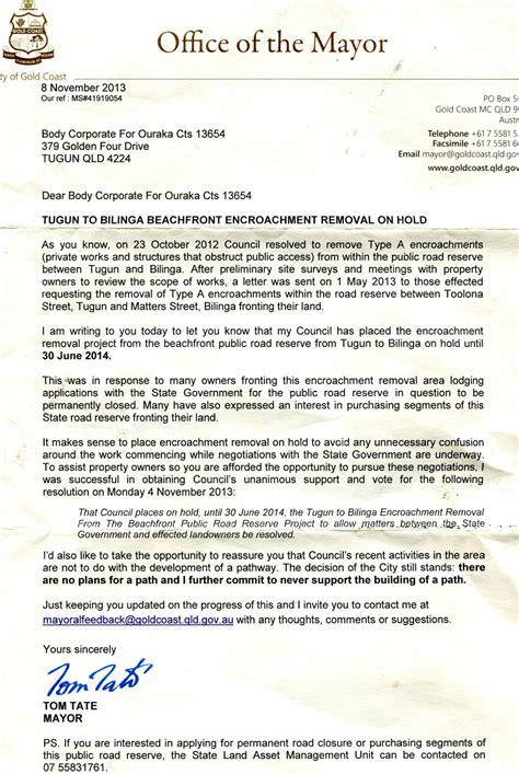 Petition Letter For Road Construction Against Tugun Bilinga Beachfront Concrete Path Construction Petitions24