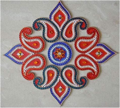 Handmade Rangoli Designs - best kundan rangoli designs our top 10 picks design