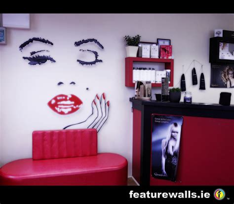 salon wall murals mural painting professionals featurewalls ie hair and