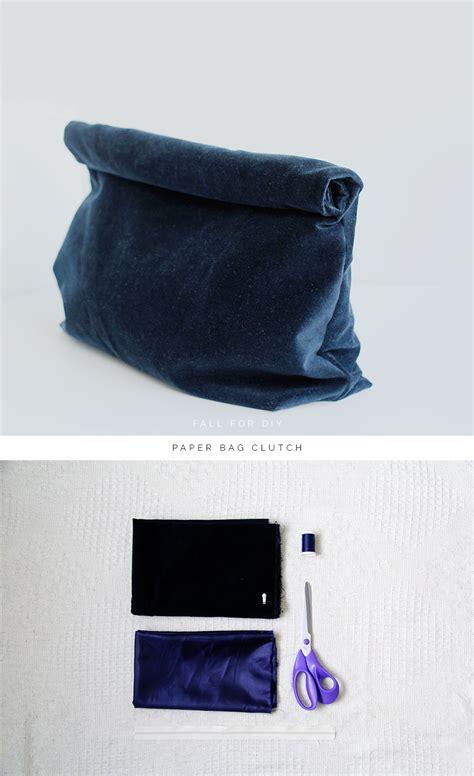 paper bag clutch pattern diy paper bag clutch fall for diy
