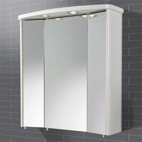 lighted bathroom mirror cabinet tissano triple door illuminated bathroom mirror cabinet