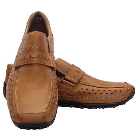 mens casual leather shoes rieker garrit mens casual slip on shoes in brown leather