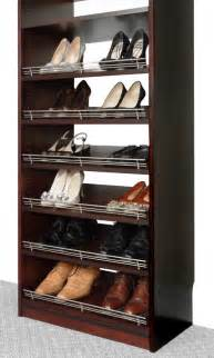 Shoe Racks For Closets by Closet Organizers Shoe Rack With Fence By Solid Wood