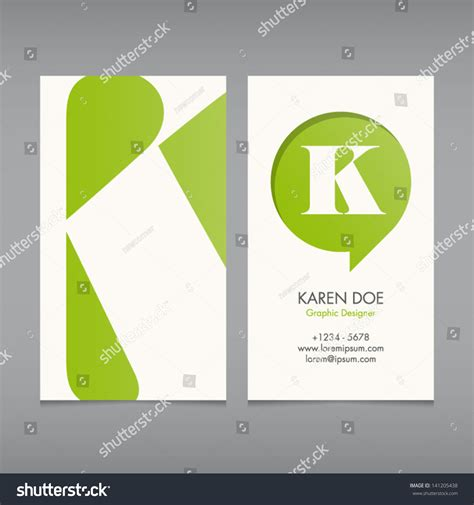 Abc Card Template Editable by Business Card Vector Template Alphabet Letter Text Color