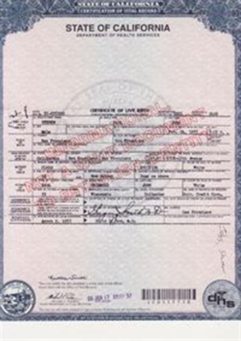 california birth certificate template steve birth certificate