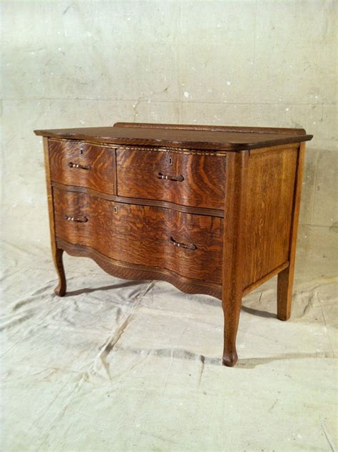 Quarter Sawn Oak Dresser by Quarter Sawn Oak Dresser With Rounded Front From