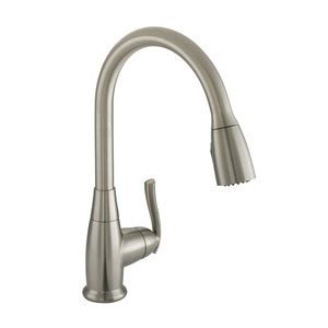 PFXC8012BN Faywood Pull Out Spray Kitchen Faucet   Brushed