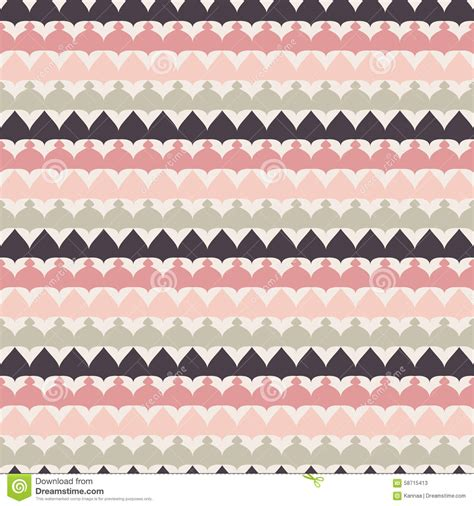 cute ethnic pattern cute retro abstract stripe seamless pattern stock