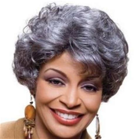 gray hair pieces for african american women 8 inch glitter short curly gray african american lace wigs
