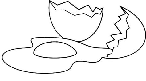 Cracked Egg Coloring Page Coloring Pages Eggs Coloring Page