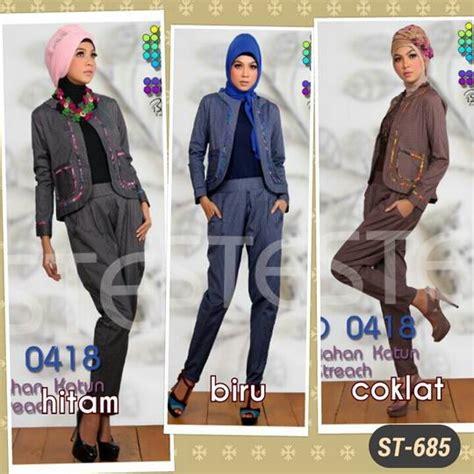 Stelan Kaos Karakter N Celana Cudoray Cuci Gudang baju muslim gaya mari di order sista st 685 by step up
